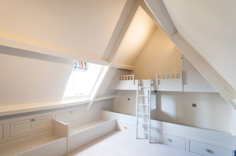 White Children's Play Room Bespoke Bunkbed